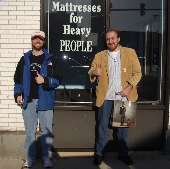 """""""Mattresses for Heavy People"""" sign Blog Posts from"""