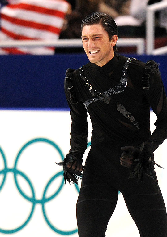 Evan Lysacek Being Spooky