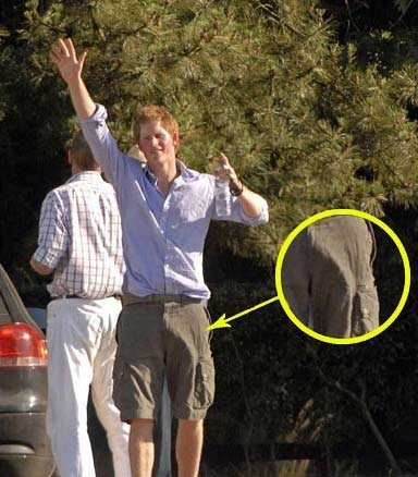 """The Royal Boner"""" sported here by Prince Harry."""